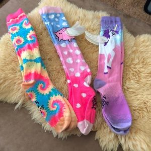 3 pair of Justice socks